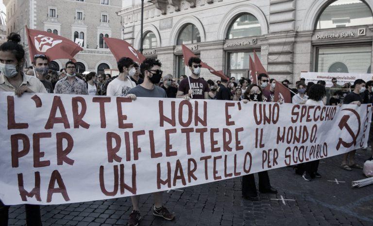 Manifestazione artisti Milano #convocatecidalvivo